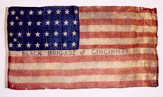 Black Brigade of Cincinnati - 1862 Black Brigade of Cincinnati Flag