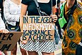 Black Lives Matter protest - young woman holding In The Age Of Information Ignorance Is A Choice sign (50114555058).jpg