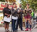Black activists at San Francisco July 2016 rally against police violence.jpg