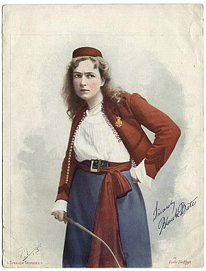 Under Two Flags (novel) - Blanche Bates as Cigarette in David Belasco's Broadway production of Under Two Flags (1901)