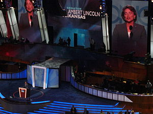 Blanche Lincoln - Lincoln speaks during the second day of the 2008 Democratic National Convention in Denver, Colorado.