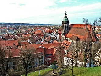 Pirna - Panorama of the historic centre of Pirna