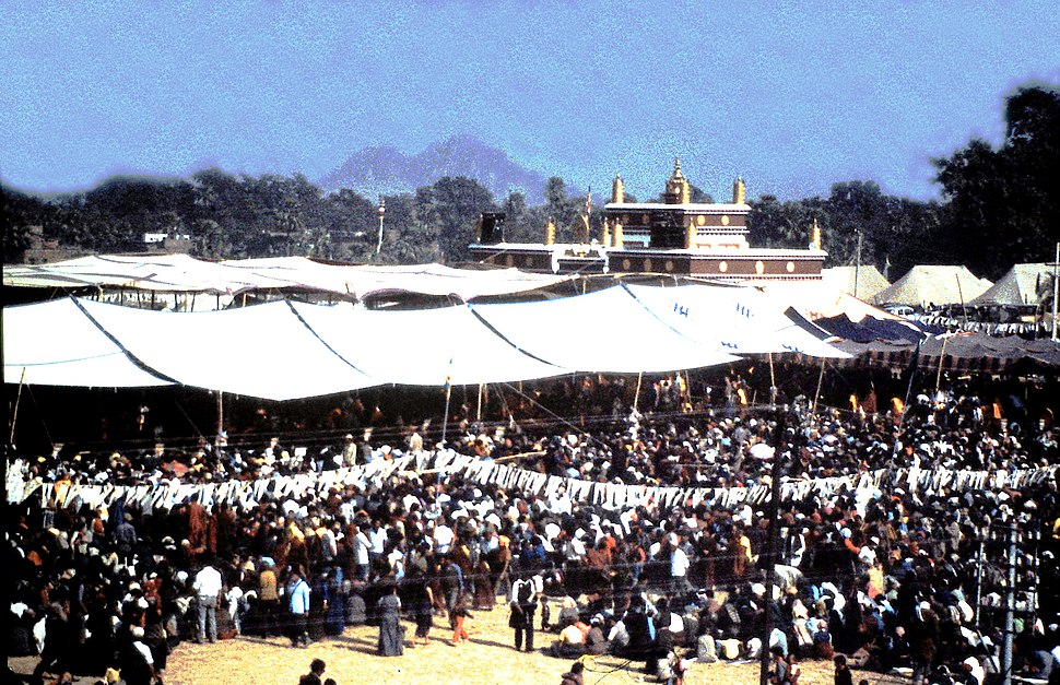 Bodh Gaya Kalachakra crowd overview December 1985