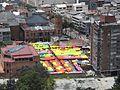 Bogotá - carpas mercado de Las Pulgas.JPG