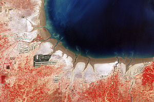 Salt in Chinese history - Aquaculture and Salt Production Bohai Bay (Seen from space 1979)