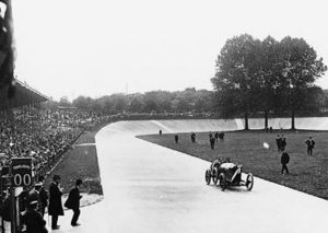 Grand Prix motor racing - Georges Boillot winning the 1912 French Grand Prix in Dieppe, France