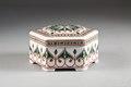 Bonbonniére (karamellskål) från 1910-talet i porslin - Hallwylska museet - 93751.tif