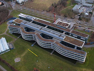 Center of Advanced European Studies and Research - Aerial view of the main building