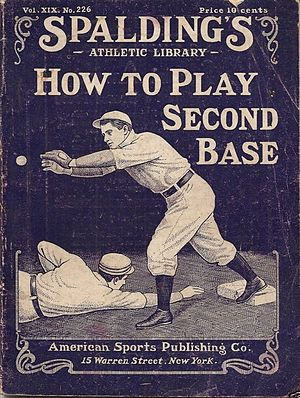 Second baseman - Cover of a 1905 how-to booklet