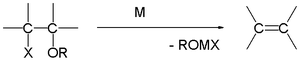 Boord olefin synthesis, X = Br, I, M = Mg, Zn