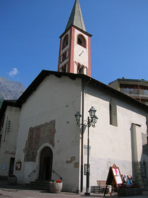 Bormio - The church of San Vitale, built already in the XII century in Romanesque style