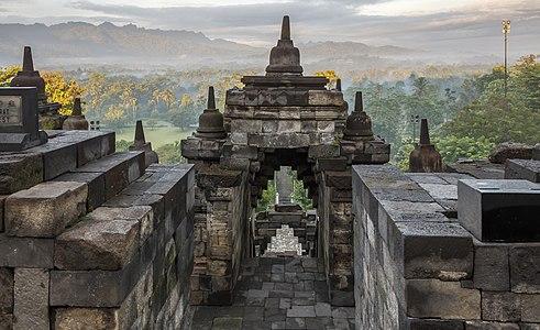 Borobudur temple Park, Indonesia