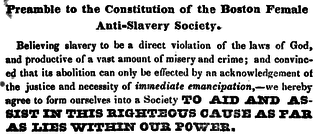 Boston Female Anti-Slavery Society