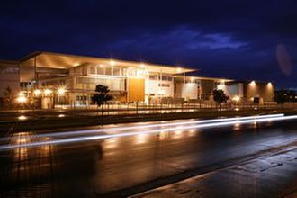 Botany Downs Secondary College - Botany Downs Secondary College at night.