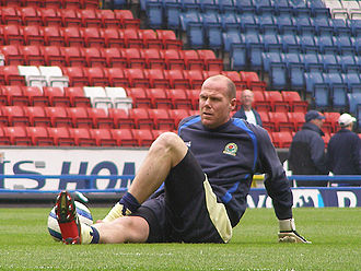 Brad Friedel - Friedel warming up for Blackburn Rovers