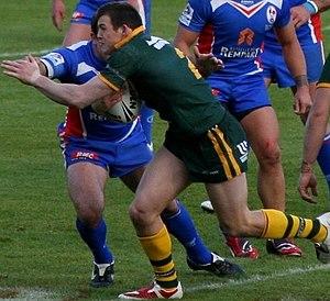 Brett Morris - Morris playing for Australia in 2009