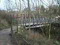 Bridge across stream in a ravine near Highcliffe Manor - geograph.org.uk - 685433.jpg
