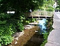 Bridge over the River Rothay to the carpark at Ambleside - geograph.org.uk - 1368636.jpg
