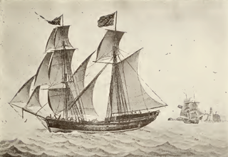 Vessel with two masts, the forward of which is square rigged, the main mast rigged a gaff mainsail and at least a square topsail