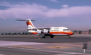 Pacific Southwest Airlines Flight 1771 - N350PS, the aircraft involved, at Los Angeles International Airport in 1986