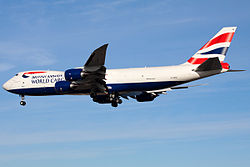 A Boeing 747 cargo plane in service with British Airways.