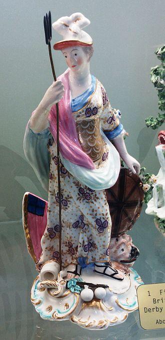 Derby Porcelain - Figure of Britannia made around 1780.