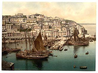 Brixham - Brixham Harbour c. 1895