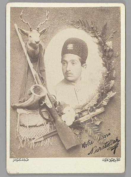 File:Brooklyn Museum - Official Royal Portrait of Prince Nosratollah One of 274 Vintage Photographs - Abdullah Qajar.jpg