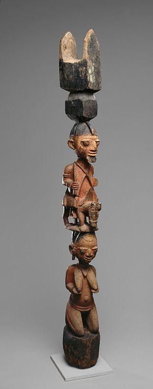 Ase (Yoruba) - Yoruba Veranda Posts, Brooklyn Museum