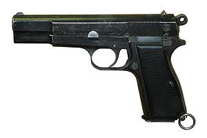 Service pistol - Browning Hi-Power.
