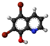 Ball-and-stick model of the broxyquinoline molecule