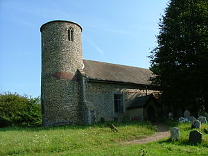 Round-tower church - St Peter's Church, Bruisyard, Suffolk