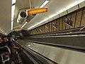 Budapešť, Deák Ferenc tér, eskalátor metra.JPG