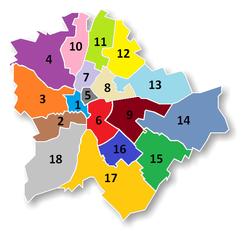 választókerületek térkép budapest Országgyűlési egyéni választókerületek listája – Wikipédia választókerületek térkép budapest