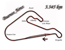 Layout of the Buenos Aires circuit in 1973