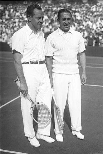 Francis Hunter - Francis Hunter (left) with Daniel Prenn, 1929.