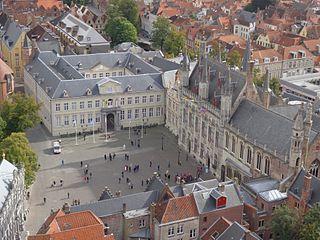 Burg Square Square in Bruges, Belgium