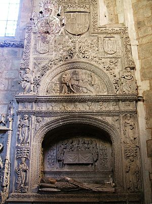 Plateresque - Tomb of the Saint Juan de Ortega in the church of the convent of Santa Dorotea, Burgos
