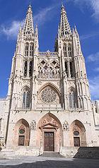Fachada de la catedral de Burgos.