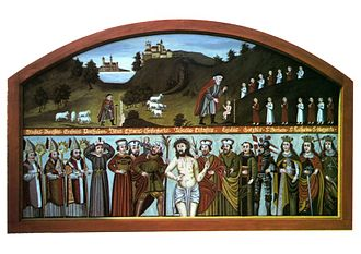 Fourteen Holy Helpers - Painting of the Fourteen Holy Helpers