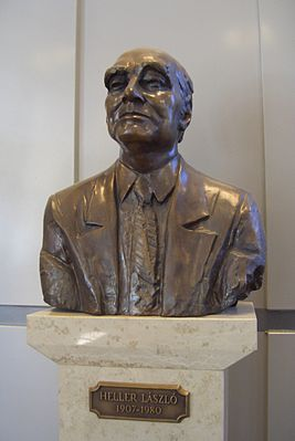 Bust of Prof László Heller MSc at Budapest Technical University 01.JPG