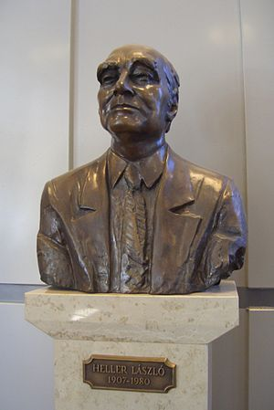 László Heller - His bust at the Budapest University of Technology and Economics