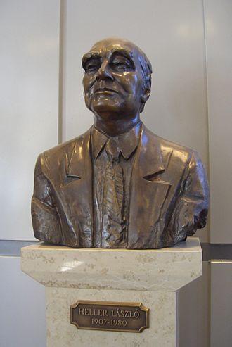 László Heller - His bust at the Budapest University of Technology and Economics