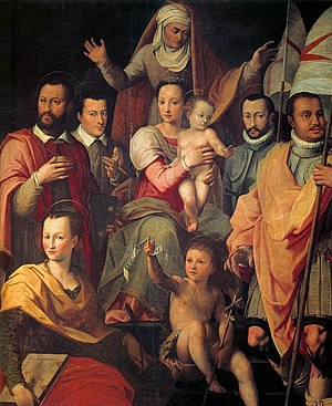 Giovanni Maria Butteri - Giovanni Maria Butteri: The Medici as the Holy Family, 1575