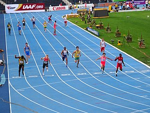 2016 IAAF World U20 Championships – Men's 4 × 100 metres relay - The finish