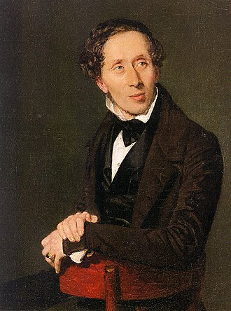 Hans Christian Andersen - Painting of Andersen, 1836, by Christian Albrecht Jensen