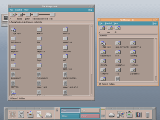 Solaris (operating system) - The Common Desktop Environment (CDE) was open sourced in August 2012. This screenshot is a build of CDE for Linux.
