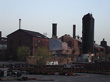 The foundation, stoves, and powerhouse of A-Furnace