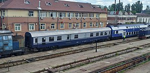 CFR Bbd 84-83 005, King Michael I's funeral carriage in Grivița railway yards.jpg