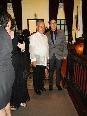 Hilario Davide Jr. - Hilario G. Davide Jr. (Andres Narvasa eulogy with grandson Carlo Narvasa).